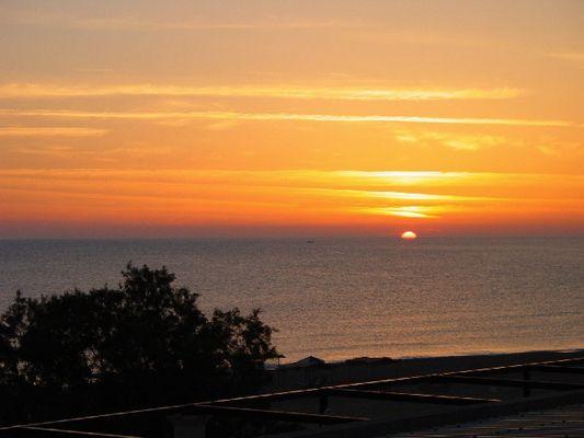 Sonnenaufgang Kreta Urlaub 2004