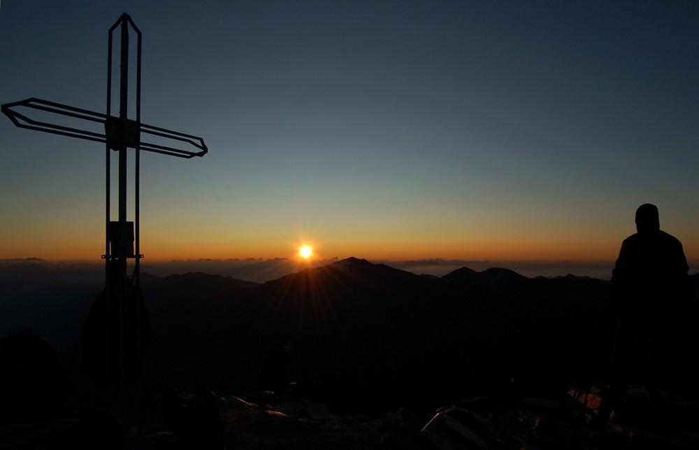 Sonnenaufgang Laaserspitze - Vinschgau, Südtirol