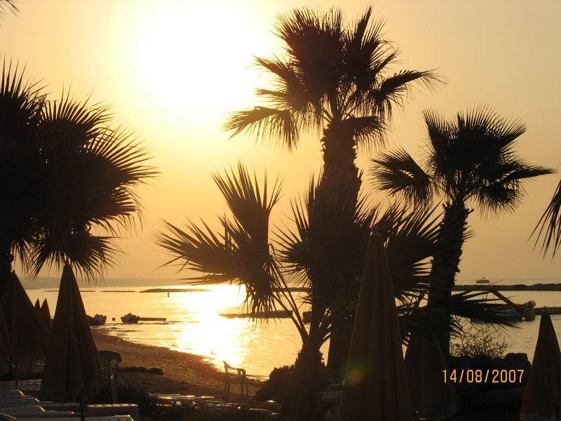 Sonnenaufgang Larnaca, auf Zypern