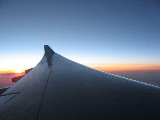 Sonnenaufgang mal über den Wolken