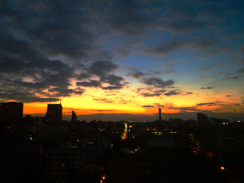 Sonnenaufgang Mexico City