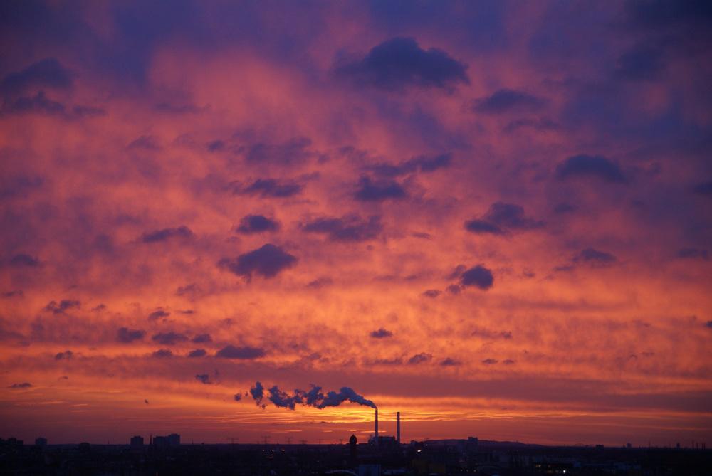 Sonnenaufgang mit Morgenrot