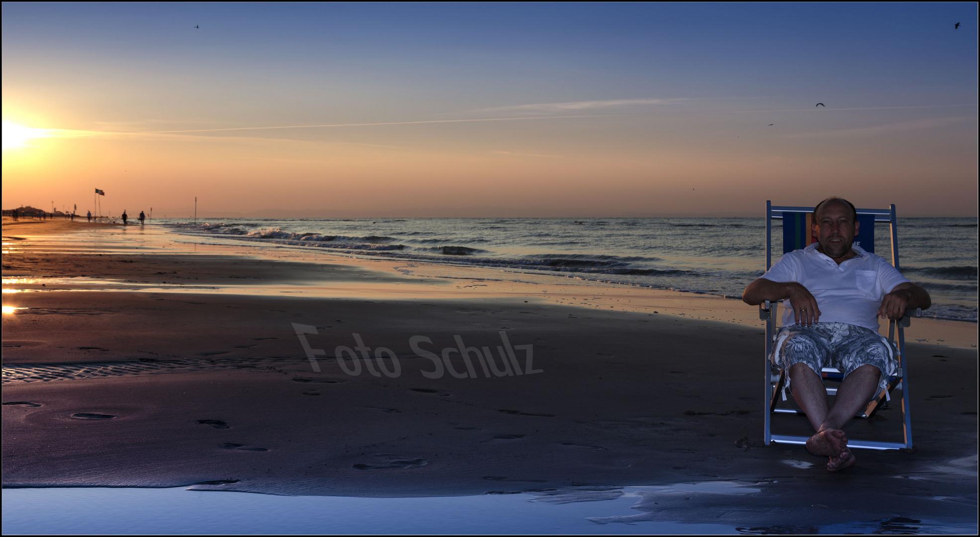 Sonnenaufgang mit Viktor
