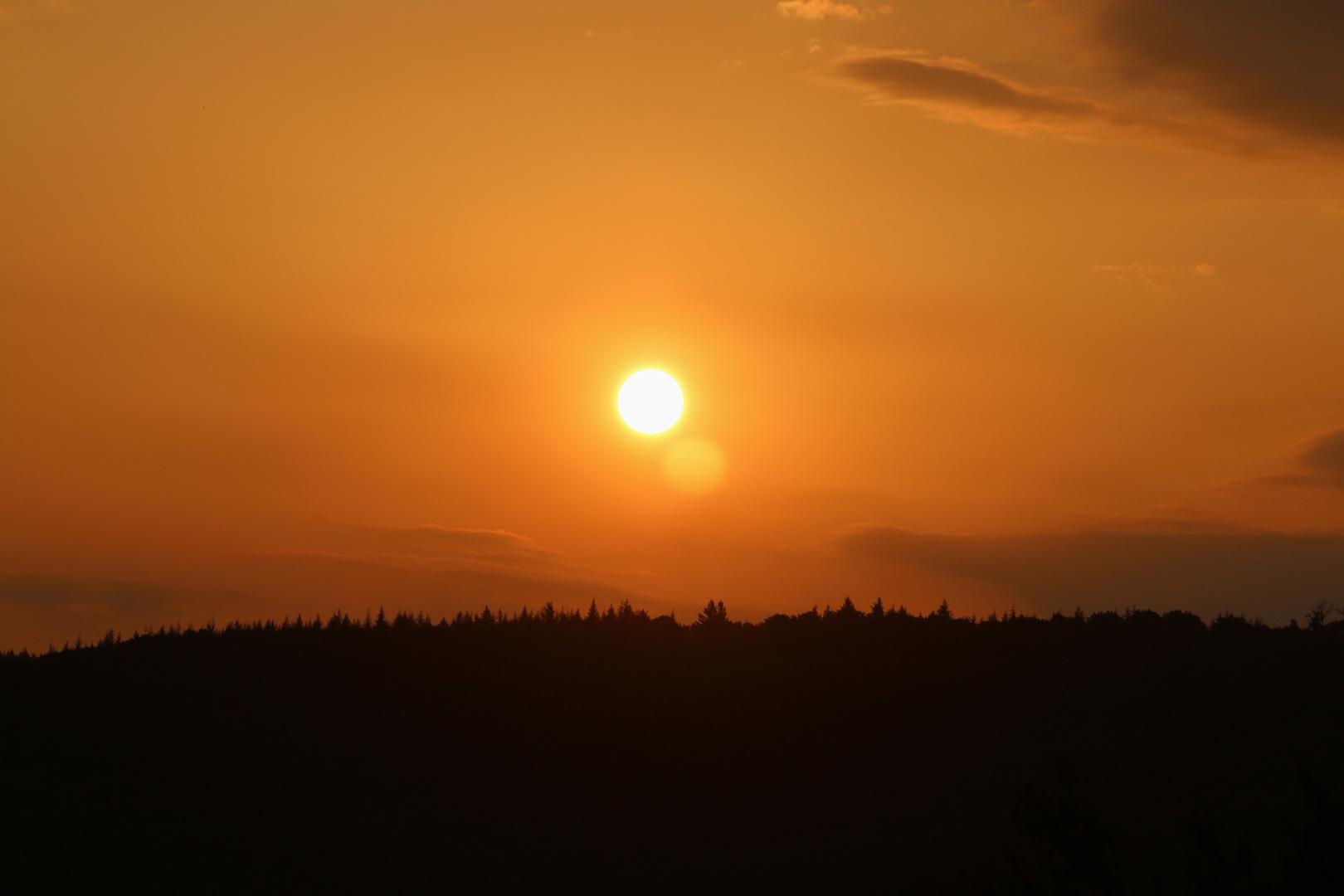 Sonnenaufgang morgens um 6°°