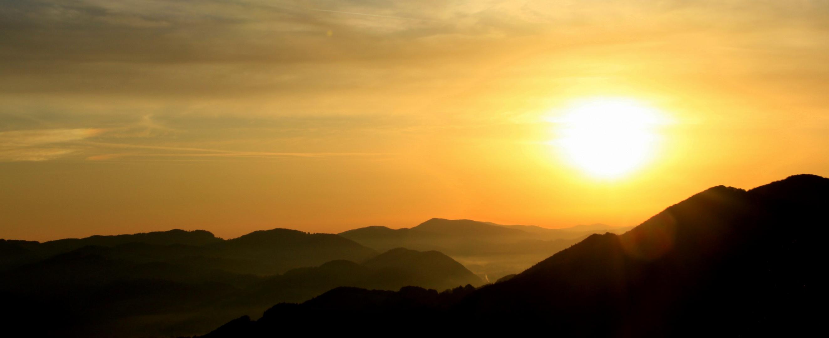 Sonnenaufgang Mostviertel