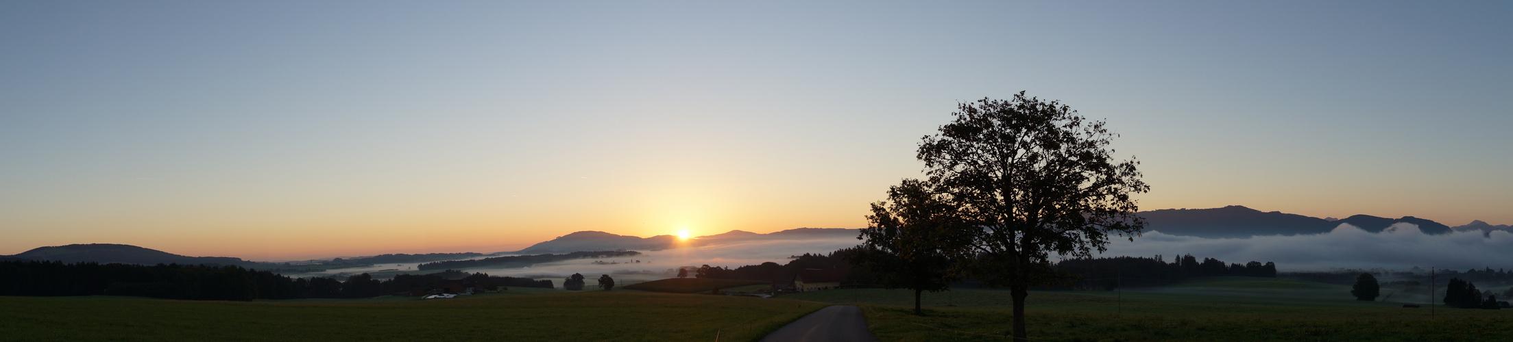 Sonnenaufgang Nähe Wallersee