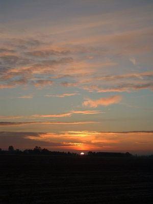 Sonnenaufgang Oktober 2003