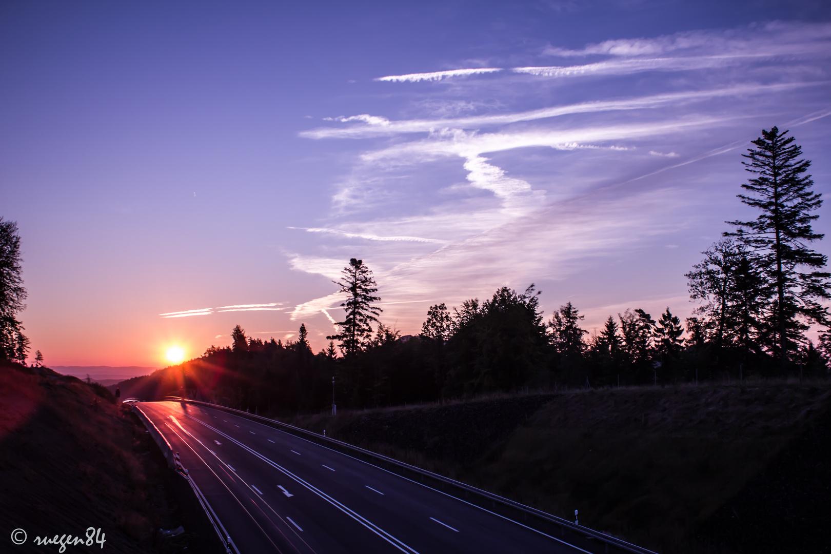 Sonnenaufgang Rödental