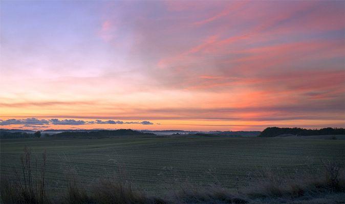 Sonnenaufgang, Rostrup, Dänemark