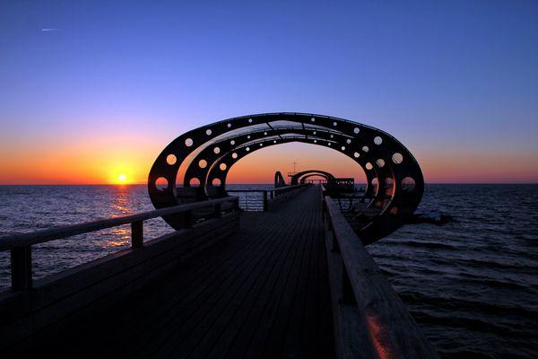Sonnenaufgang - Seebrücke Kellenhusen