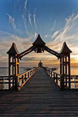 Sonnenaufgang Seebrücke Sellin