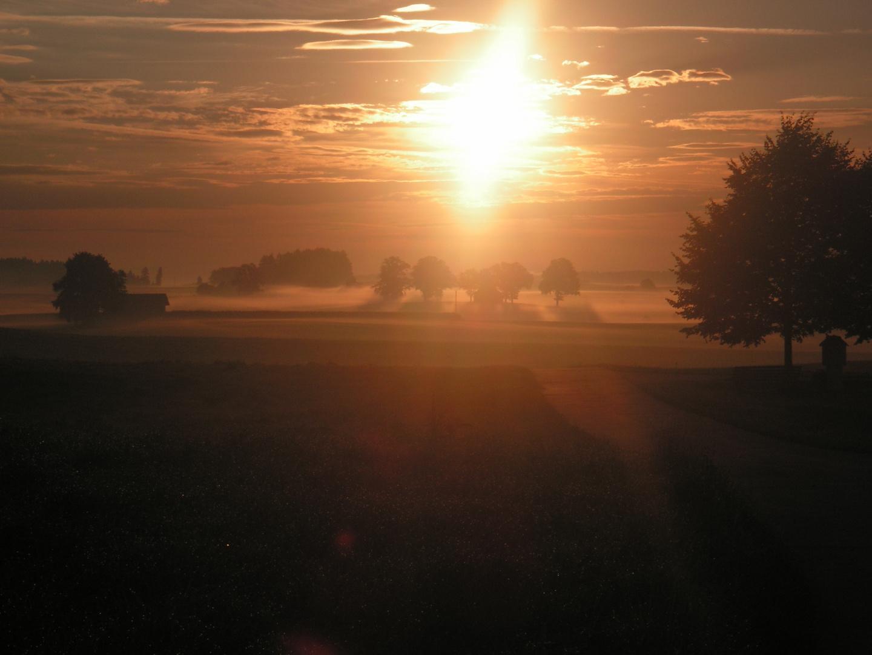 Sonnenaufgang Sommer 2006 gegen 5 Uhr morgens