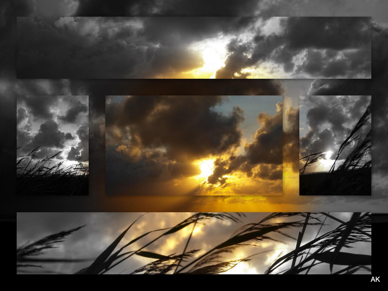 Sonnenaufgang Sylt Rantumbecken