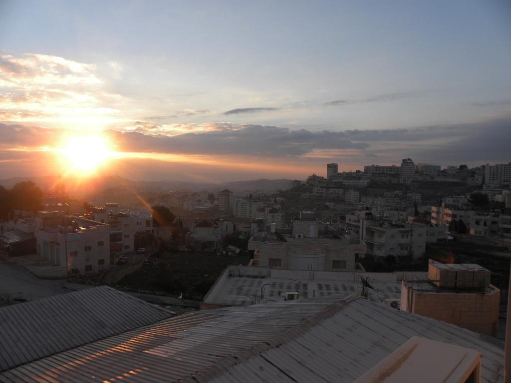 Sonnenaufgang über Bethlehem