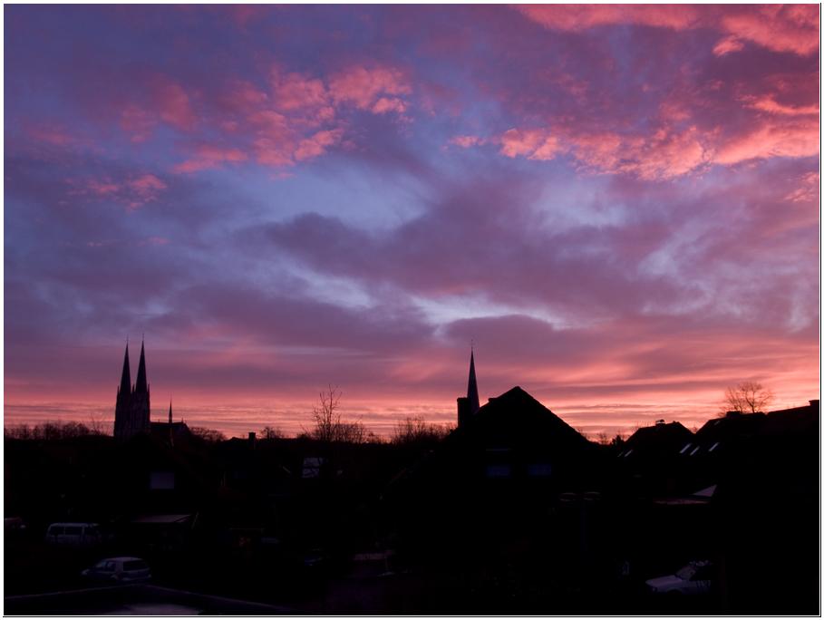 Sonnenaufgang über Billerbeck