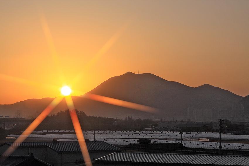 Sonnenaufgang über Busan