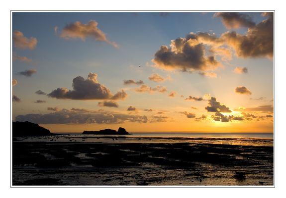 Sonnenaufgang über Cancale