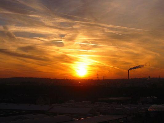 Sonnenaufgang über Darmstadt