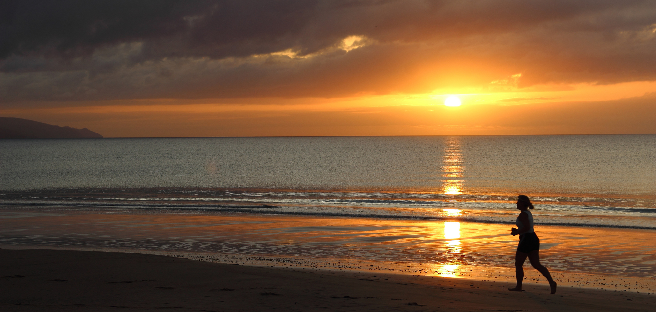 Sonnenaufgang über dem Atlantik