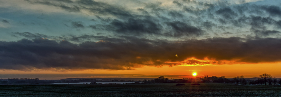 Sonnenaufgang über dem Dambecker Moor