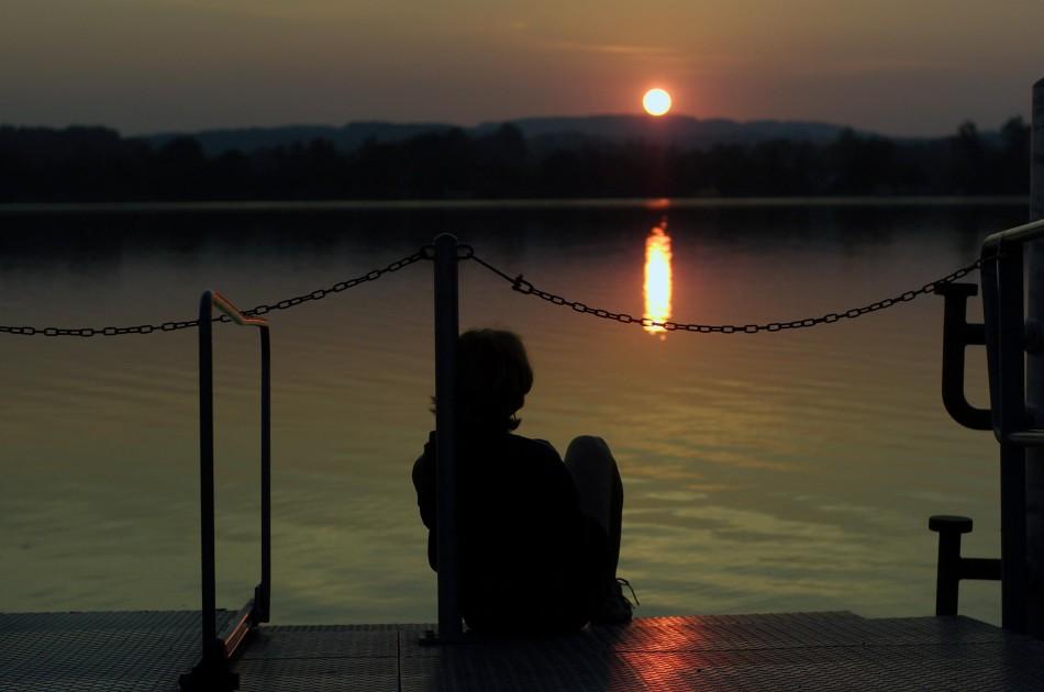 Sonnenaufgang über dem Greifensee