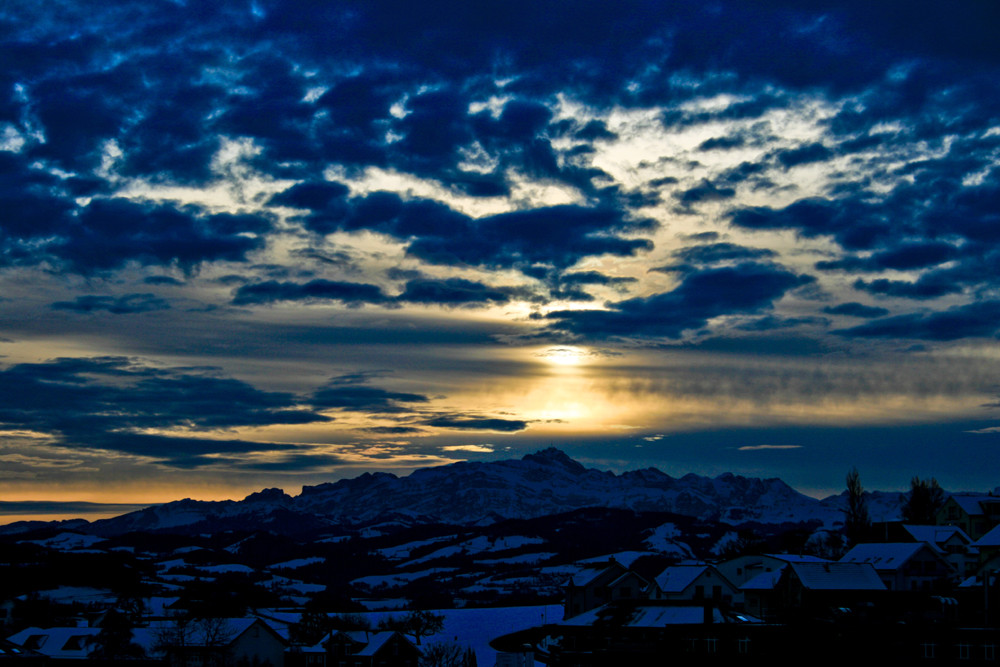 Sonnenaufgang über dem Säntis