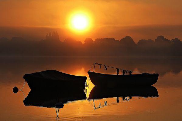 Sonnenaufgang über dem Schöhsee bei Plön