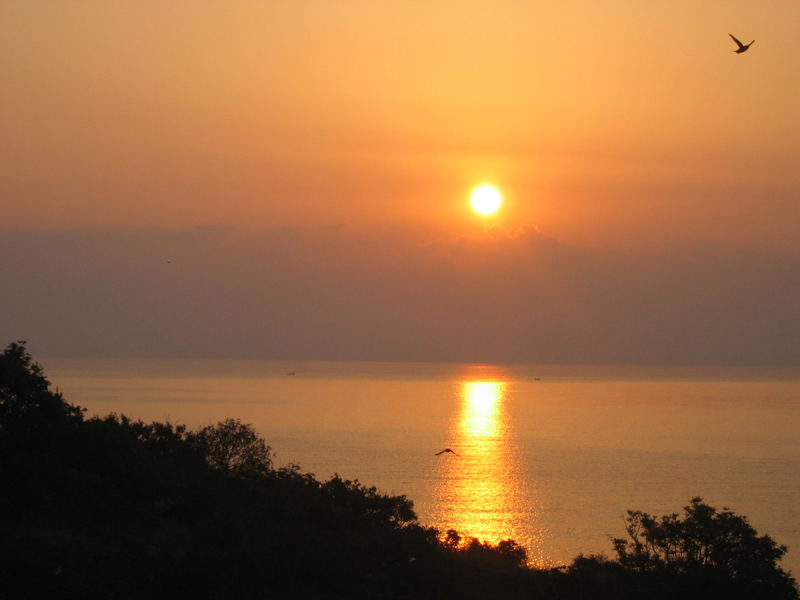 Sonnenaufgang über dem Schwarzen Meer