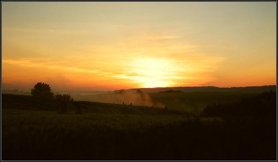 Sonnenaufgang über dem Tollensetal