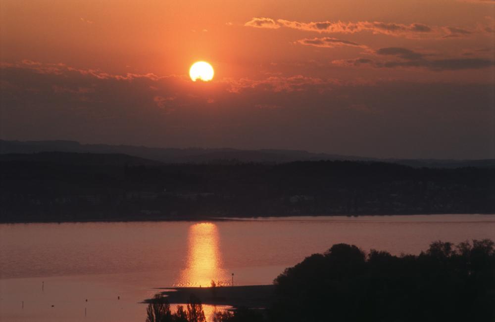 Sonnenaufgang über dem Überlinger See