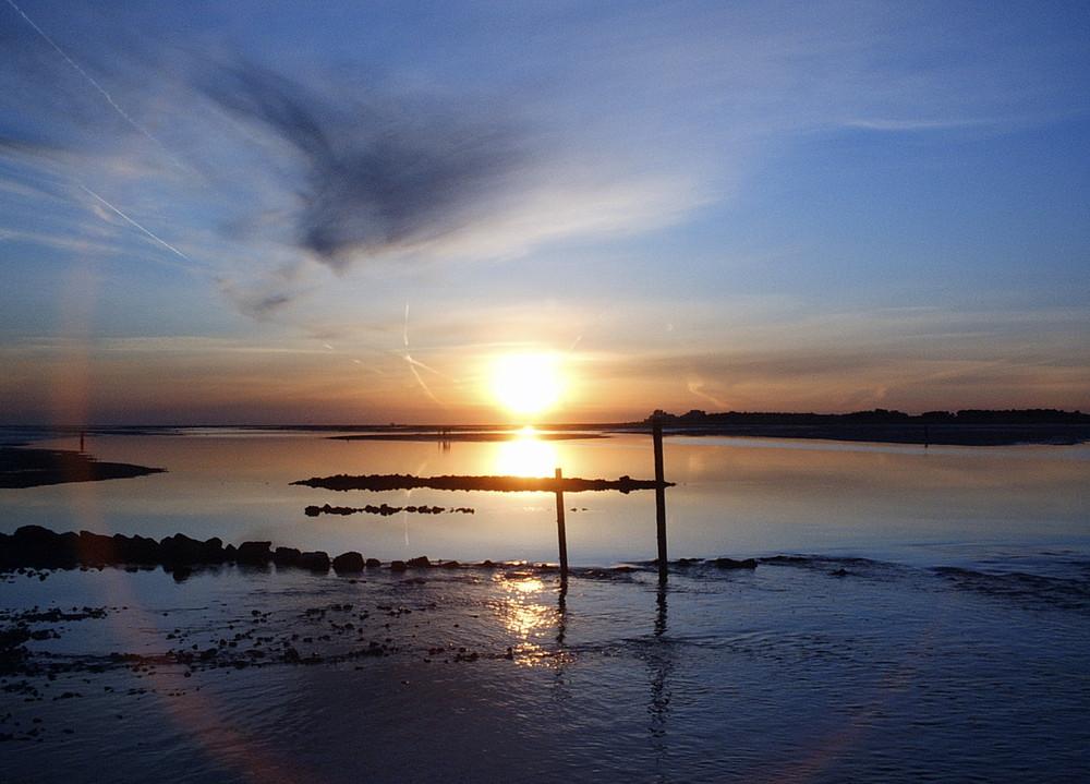 Sonnenaufgang über dem Wattenmeer
