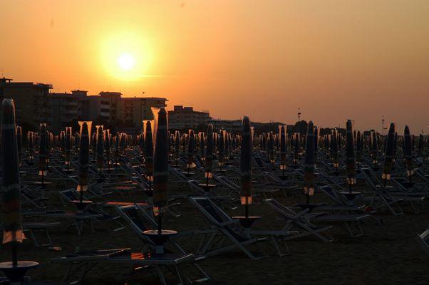 Sonnenaufgang über den Strand von Bibione