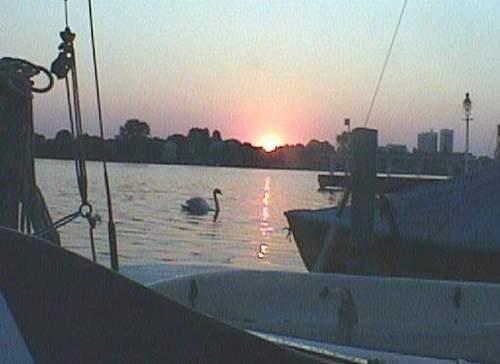 Sonnenaufgang über der Alster