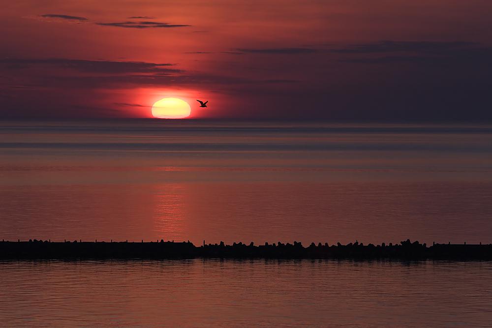 Sonnenaufgang über der Düne