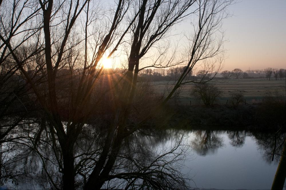 Sonnenaufgang über der Lippeaue