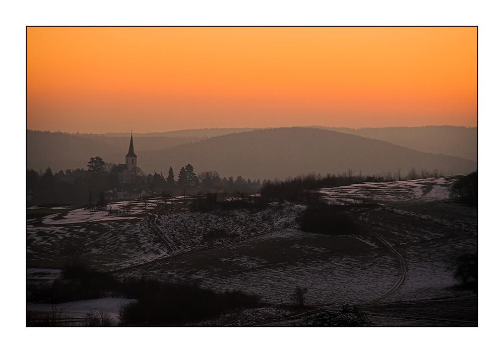 Sonnenaufgang über der Nordeifel