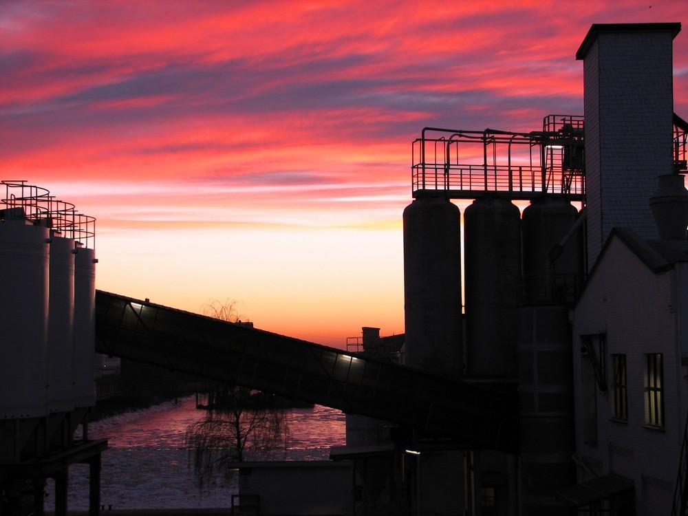 Sonnenaufgang über der Peute