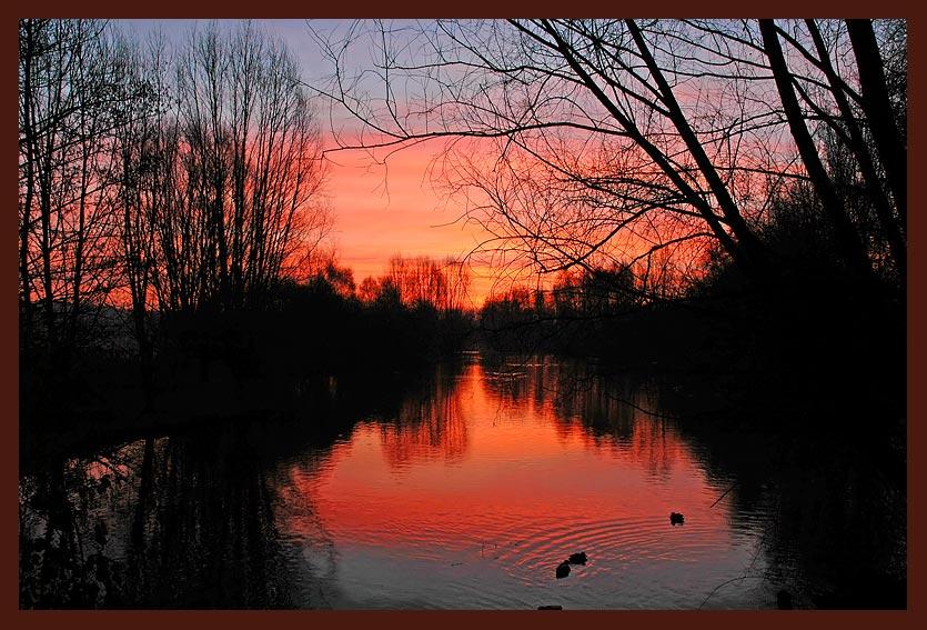 Sonnenaufgang über der Ruhraue...