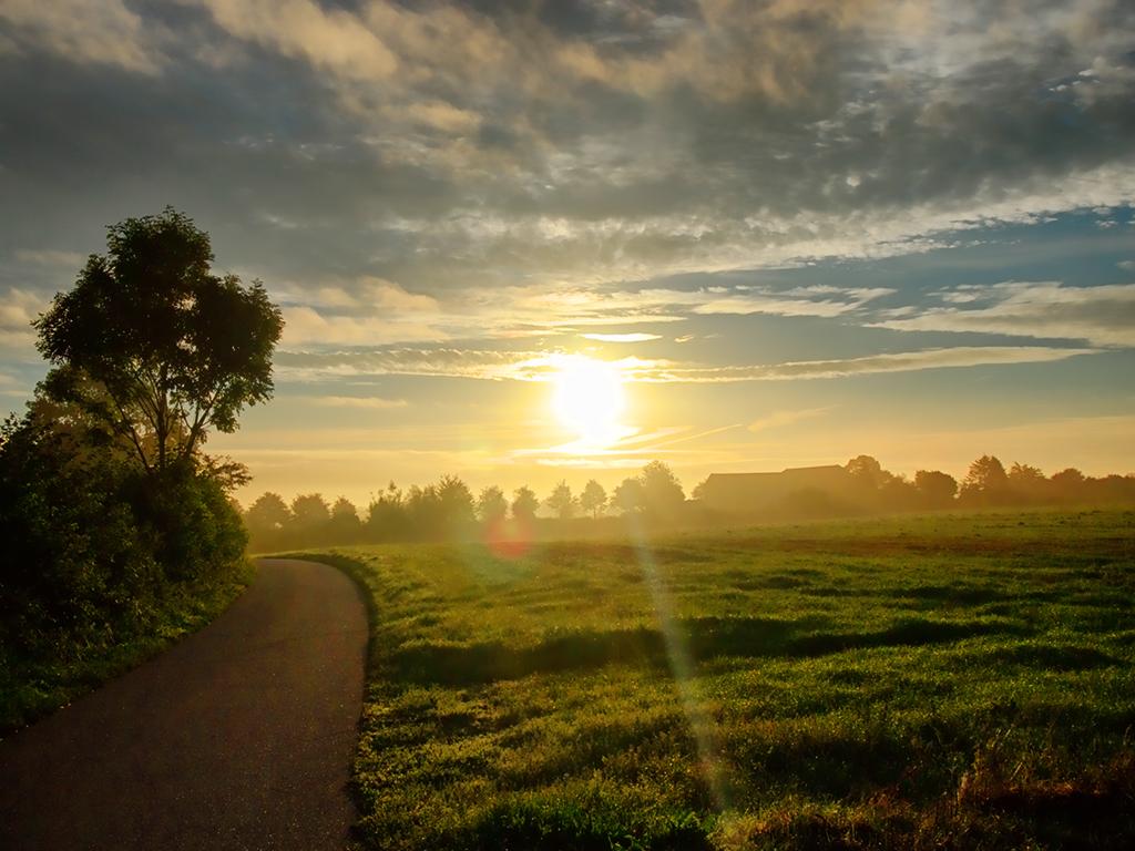 Sonnenaufgang über Dollerup (SH)