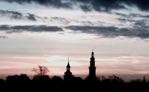 Sonnenaufgang über Erlangen