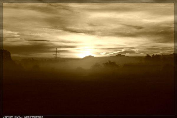 Sonnenaufgang über Großkarolinenfeld_SW