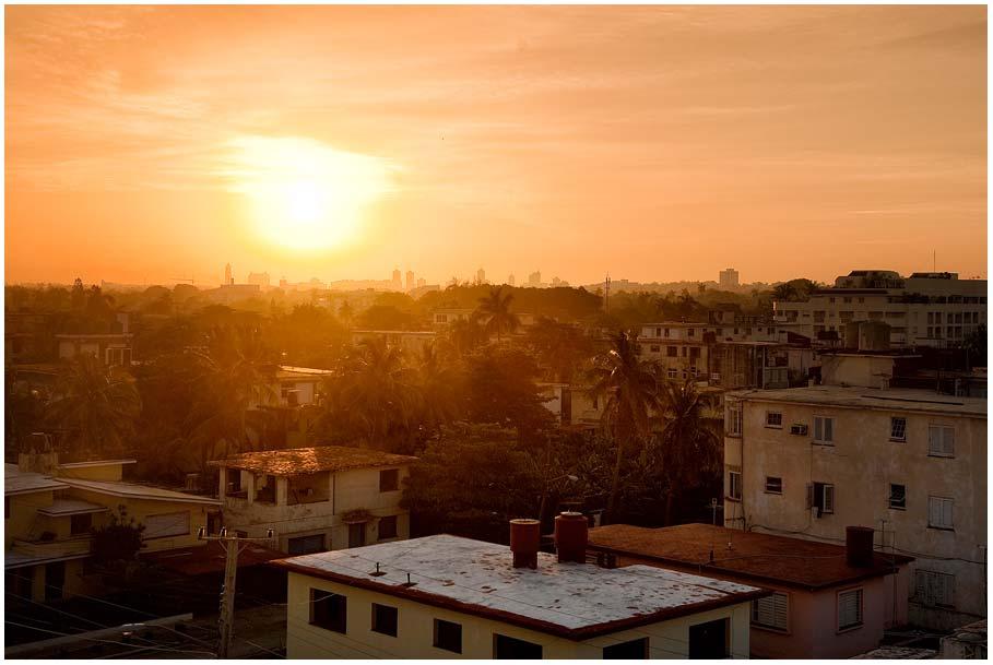 Sonnenaufgang über Havanna...