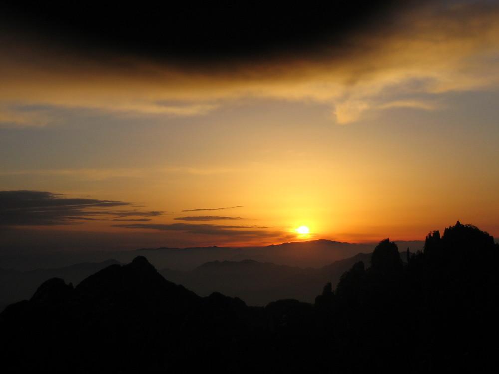 Sonnenaufgang über Huang Shan