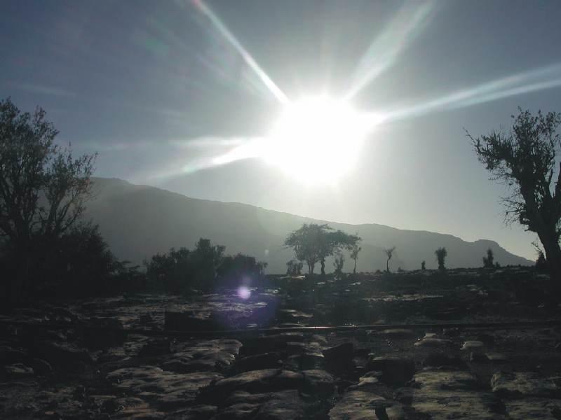 Sonnenaufgang über Jebel Shams