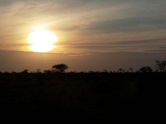 Sonnenaufgang über Kenia