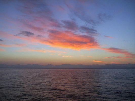 Sonnenaufgang über Koriska