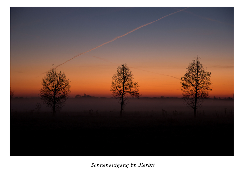Sonnenaufgang über Leipzig