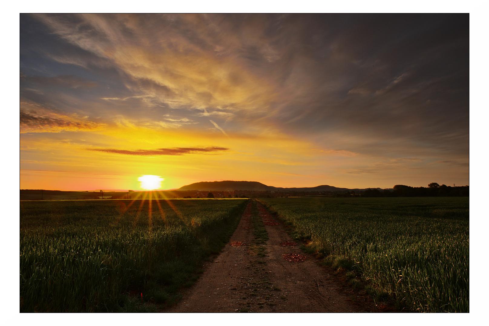 Sonnenaufgang über Mainbernheim