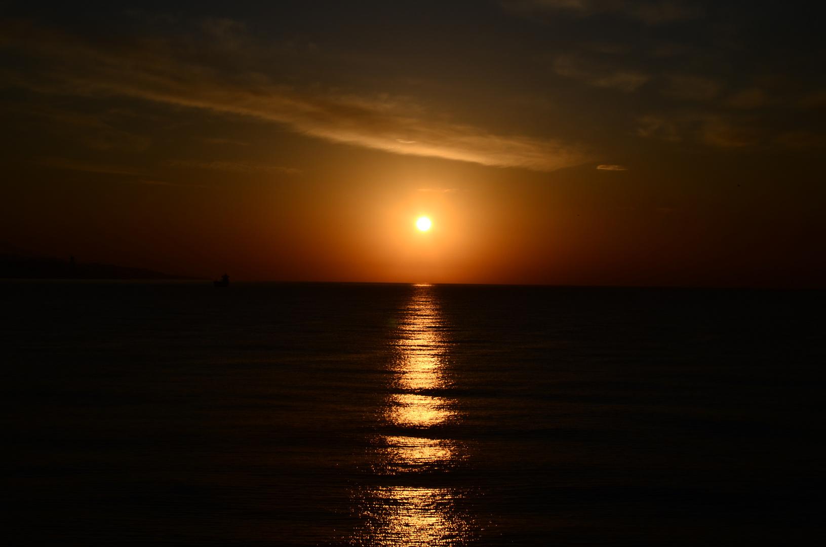 Sonnenaufgang über Malaga