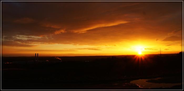 Sonnenaufgang über Mosel